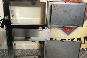 Front drzwiczek do kuchni kaflowej ze stali nierdzewnej