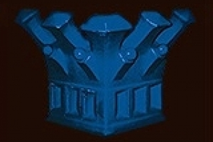 neogotyk-korona-element-narozny-kobalt