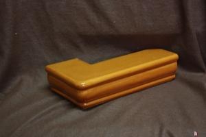 Gzyms narożny rudy 22x5,5x11 cm
