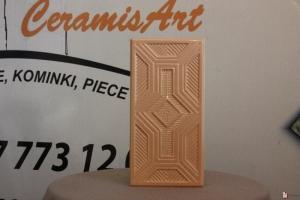 Kafel KORONKA środkowy połówka brzoskwinia 11x22 cm