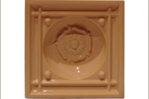 Kafel KOMINKOWY środkowy brzoskwinia 19x19 cm