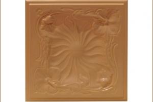 Kafel SECESJA środkowy brzoskwinia 22x22 cm