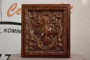 Kafel środkowy BAROK o wymiarach 20x22cm w kolorze oliwka