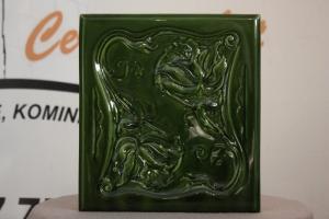 Kafel środkowy RÓŻA o wymiarach 20x22cm w kolorze zieleń top