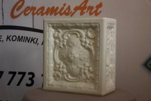 Kafel narożny BAROK o wymiarach 20x22cm w kolorze krem
