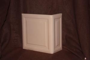 Kafel KWADRAT narożny beż 20x20x10 cm