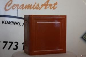 Kafel KWADRAT narożny brąz 20x20x10 cm