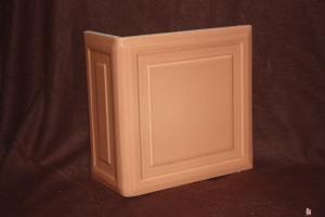 Kafel KWADRAT narożny brzoskwinia 20x20x10 cm