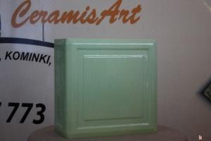 Kafel KWADRAT narożny groszek 20x20x10 cm