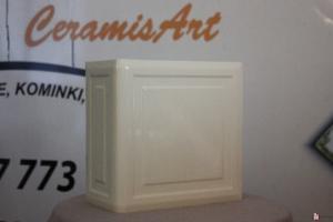 Kafel KWADRAT narożny krem 20x20x10 cm