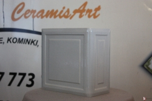 Kafel KWADRAT narożny popiel 20x20x10 cm