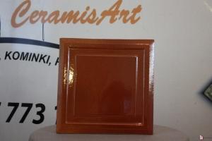 Kafel KWADRAT środkowy brąz 20x20 cm