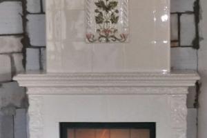 Zastosowanie wkładu z paleniskiem szamotowym powoduje lepszy efekt spalania drewna.