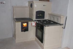 Wizja ognia potęguje wrażenie ciepła kuchni kaflowej